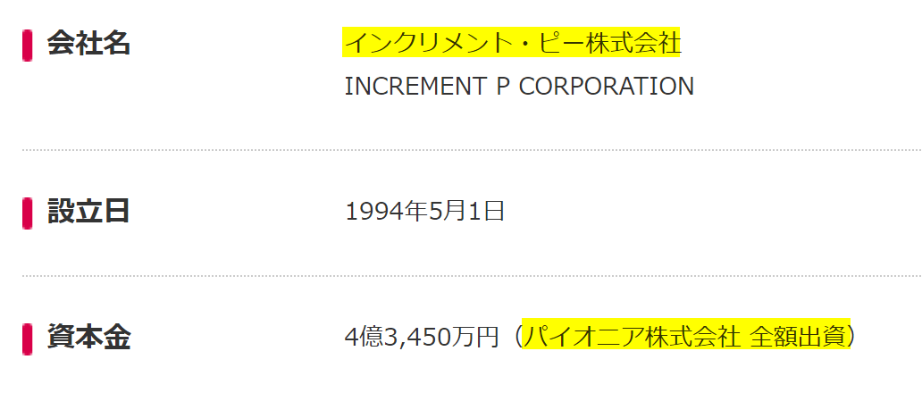 INCREMENT-P-pioneer